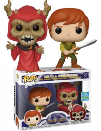 Funko Pop! Disney: Caldeirão Magico Taran E Horned King 2- Pack Exclusivo Sdcc 2019-The Black Cauldron-2