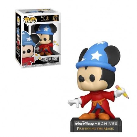 Funko Pop! Disney Archives 50 Th: Sorcerer Mickey (mickey Feiticeiro)-Walt Disney Archives-799