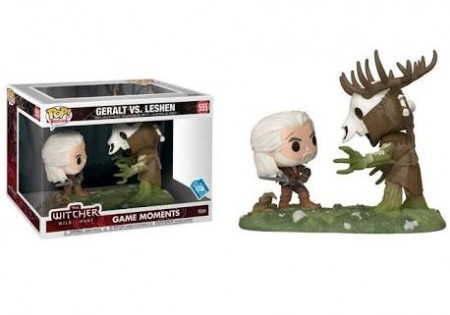Funko Pop  Games - The Witcher Game Moments - Geralt Vs Leshen 555-The Witcher-555