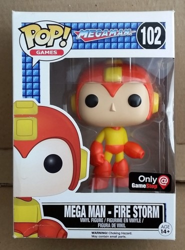 Funko Pop! Games Megaman Mega Man Fire Storm Exclusive Gamestop - Mega Man - #102