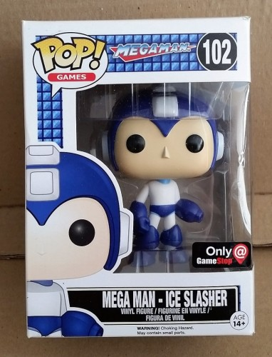 Funko Pop! Games Megaman Mega Man Ice Slasher Exclusive Gamestop-Mega Man-102