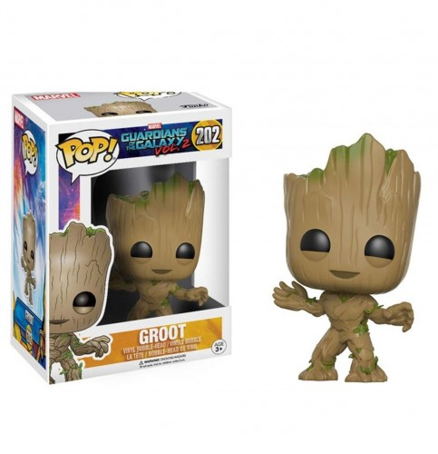 Funko Pop! Marvel - Guardiões Da Galáxia - Groot-marvel-202