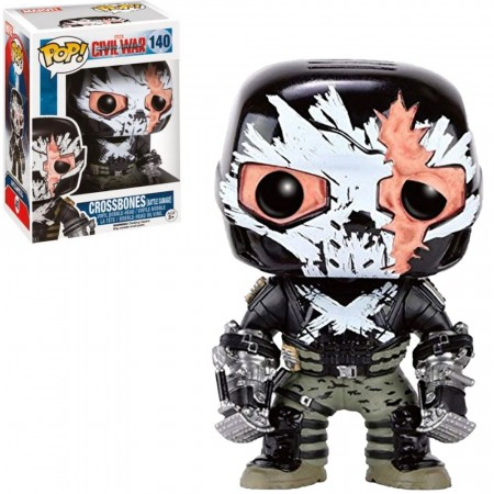 Funko Pop! Marvel: Civil War - Crossbones (battle Damage)-Marvel-140