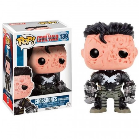 Funko Pop! Marvel: Civil War - Crossbones Unmasked-Marvel-139