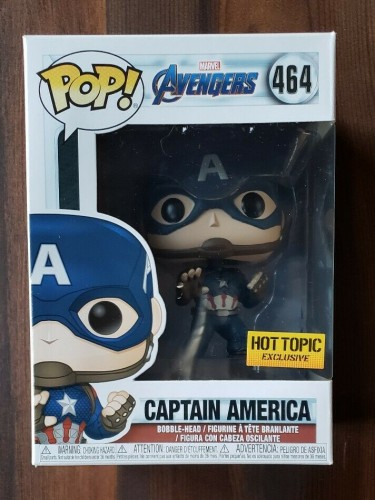 Funko Pop! Marvel Avengers Endgame - Captain America #464 Hot Topic-Avengers Endgame-1