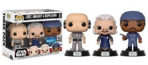 Funko Pop! Pack Star Wars Lobot, Ugnaught, Bespin Guard Exclusivo-Stars Wars-1