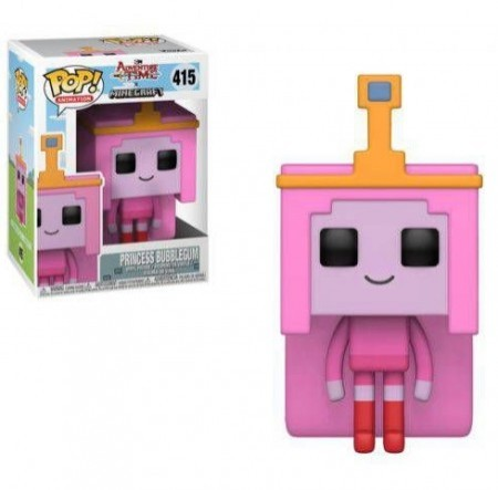Funko Pop! Princess Bubblegum (minecraft Style)-adventure time-415