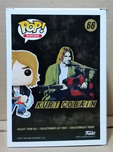 Funko Pop! Rocks Nirvana Kurt Cobain Exclusive Hot Topic - Rocks - #66