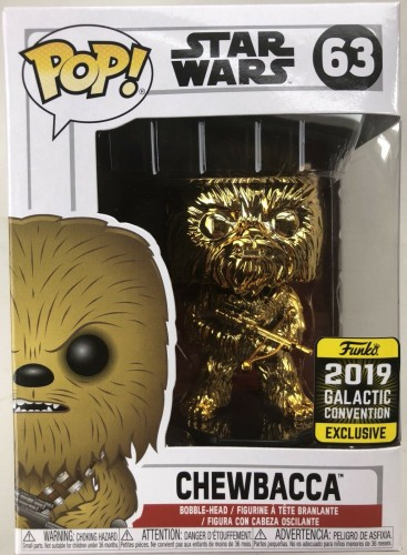 Funko Pop! Star Wars - Chewbacca Gold Chrome #63 2019-Stars Wars-1