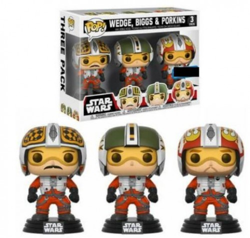 Funko Pop! Star Wars Biggs, Wedge E Porkins 3 Pack-Stars Wars-1