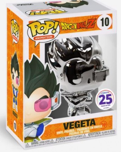 Funko Pop! Vegeta Chrome - Dragon Ball - #10