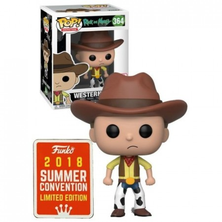 Funko Pop! Western Morty #364 - Sdcc 2018 - Original - Rick And Morty - #364