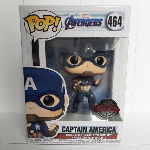 Funko Pop Avengers Captain America Ex #464-Vingadores - Ultimato-1