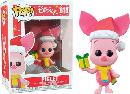 Funko Pop Animação- Disney Holiday - Piglet 615-Winnie The Pooh.-615
