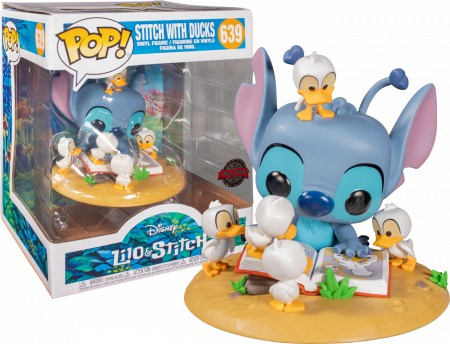 Funko Pop Animação- Lilo& Stitch- Stitch With Ducks 639 ( Special Edition  )-Lilo e Stitch-639