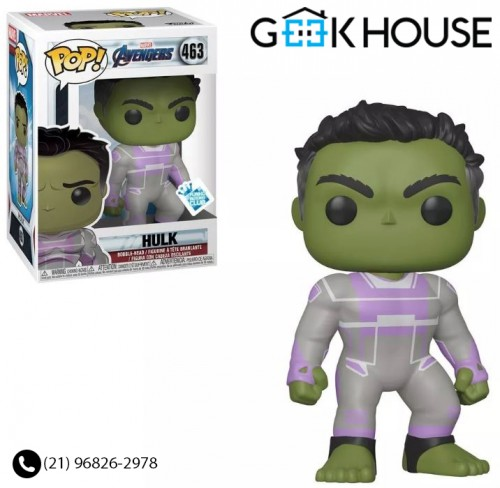Funko Pop Avengers Endgame Hulk Exclusivo # 463-Vingadores - Ultimato-463