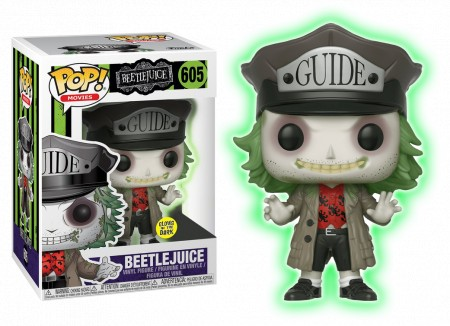 Funko Pop Beetlejuice With Guide Hat Glow In The Dark-Os Fantasmas se Divertem-605