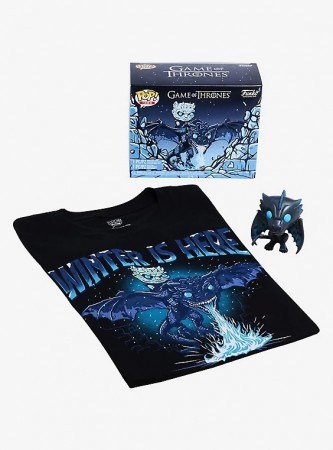 Funko Box Game Of Thrones Box Lunch Limited Edition Icy Viserion Gitd + Camiseta Md-Game Of Thrones-22