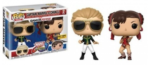 Funko Pop Capitã Marvel Vs Chun-li 2pack Exclusivo Hottopic - Marvel vs Capcom - #2