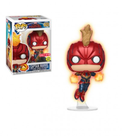 Funko Pop Captain Marvel- Gitd - Exclusive Target-Captain Marvel .-433
