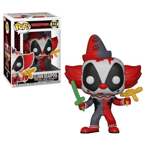 Funko Pop Clown Deadpool Marvel-Deadpool-322