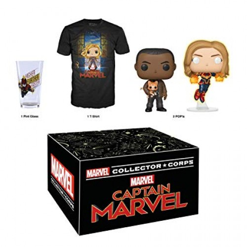Funko Pop Collector Corps Captain Marvel-Collector Corps-100