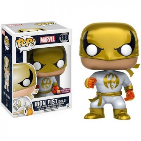Funko Pop Combo Iron Fist Gold Px Previews-Marvel Universe-188