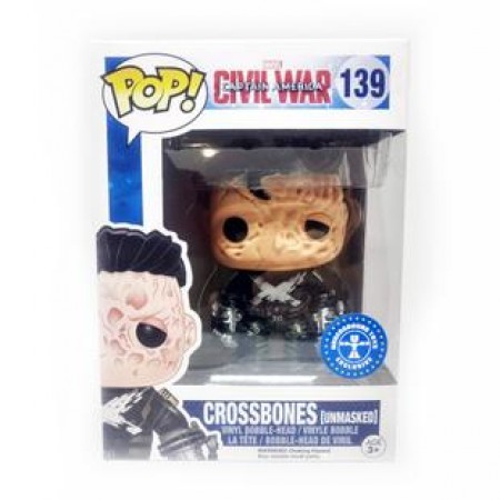 Funko Pop Crossbones (unmasked) Ex-Captain America: Civil War-139