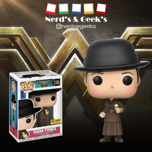 Funko Pop Diana Prince Exclusiva Hottopic-Mulher Maravilha-230