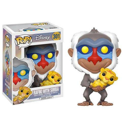 Funko Pop Disney O Rei Leão The Lion King Rafiki With Baby Simba-O Rei Leão-301