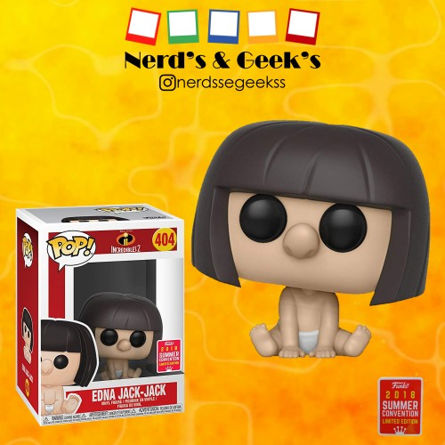 Funko Pop Edna Jack Jack Exclusivo Sdcc 2018-Os Incríveis-404