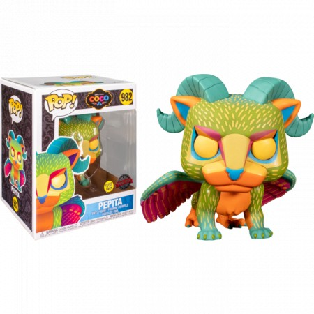 Funko Pop Exclusivo Disney Pixar Coco Pepita #982 Glows In The Dark-Viva A Vida é Uma Festa-982