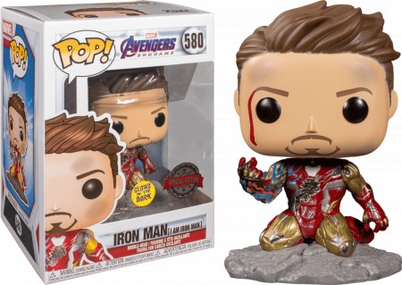 Funko Pop Exclusivo Iron Man #580 I Am Iron Man Vingadores-Avengers Endgame-580