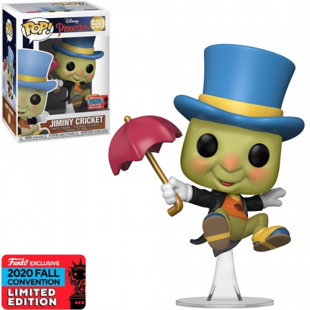 Funko Pop Exclusivo Nycc 2020 Disney Pinocchio Jiminy Cricket #980-NYCC 2020-980