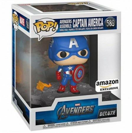 Funko Pop Filmes- Marvel Avengers - Assemble 589 Captao América-Disney Marvel-589