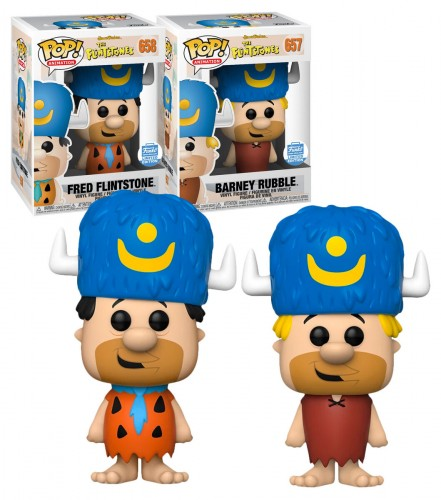 Funko Pop Fred Flintstone And Barney Rubble-Hanna Barbera-100