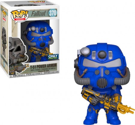 Funko Pop Games  - Fallout - T-51 Power Armor  Azul 370 (best Buy)-Fallout-370