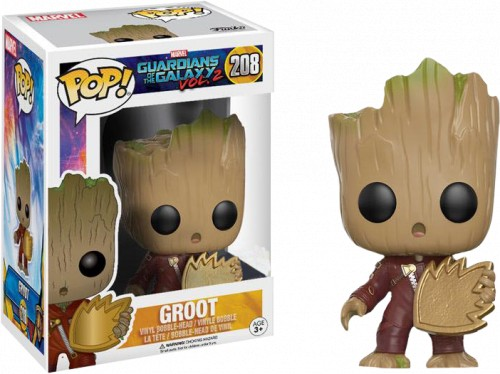 Funko Pop Groot With Patch-Guardiões da Galáxia Vol 2-208