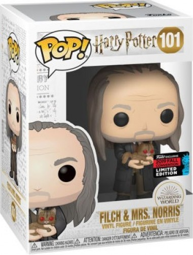 Funko Pop Harry Potter 6 Filch & Mrs Norris *comic Nycc* 101-Harry Potter-1