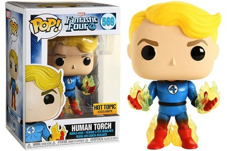 Funko Pop Human Torch Exclusive Hot Topic-Quarteto Fantástico-569