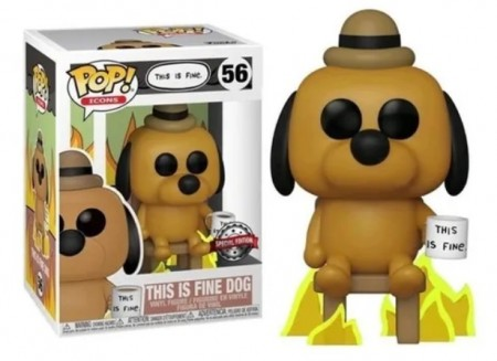 Funko Pop Icons - This Is Fine Dog - #56-FUNKO POP-56