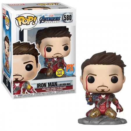 Funko Pop Iron Man Gitd Exclusivo Px Preview - #580-Avengers Endgame-580