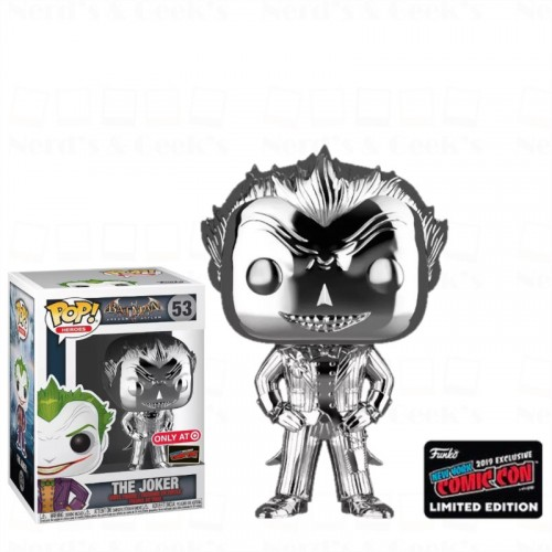 Funko Pop Joker Silver Exclusivo Nycc 2019 - Batman Arkham Asylum - #53