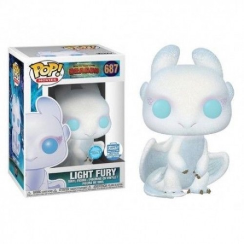 Funko Pop Light Fury Diamond Ex - How To Train Your Dragon-How to train your dragon 3-687