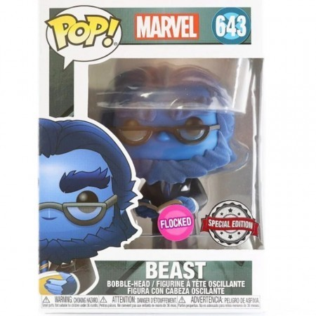 Funko Pop Marvel Exclusivo X-men Beast #643 Flocked Fera-X-Men 20th Anniversary-643