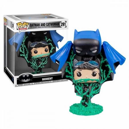 Funko Pop Moment Batman And Catwoman Gamestop-DC Collection Jim Lee-291