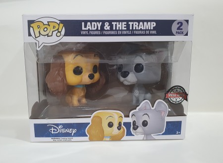 Funko Pop Pack Lady & The Tramp (a Dama E O Vagabundo)-Disney A Dama E O Vagabundo-1