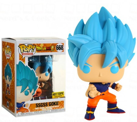 Funko Pop Ssgss Goku Exclusivo Hottopic-Dragon Ball Z-668