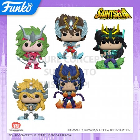 Funko Pop Set Cavaleiros Do Zodiaco Toy Fair Ny 2020-CDZ - Cavaleiros do Zodiaco-100
