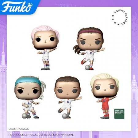 Funko Pop Set Us Womens Soccer - 4 Regulares + 1 Exclusivo-Funko-1